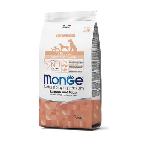 MONGE All Breeds Puppy & Junior Salmon & rice lazac-rizs 31/18 12 kg