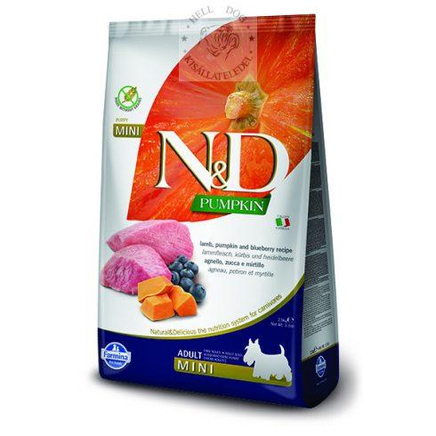 N&D Grain Free bárány áfonya sütőtökkel MINI 2.5 kg