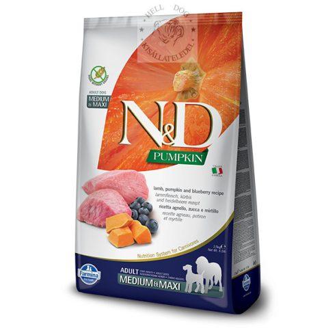 N&D Grain Free bárány áfonya sütőtökkel medium-maxi  2.5 kg