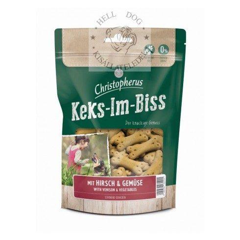 CHRISTOPHERUS Keks-Im-Biss Szarvas+zöldség jutalom falatok