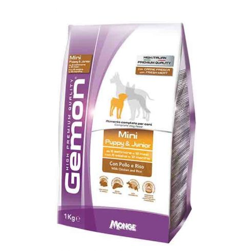 GEMON Mini Puppy & junior chicken and rice, csirke-rizs 29/15  3 kg