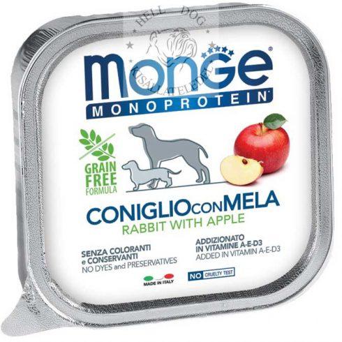 MONGE monoprotein 100 % nyúl és alma 150 gr.