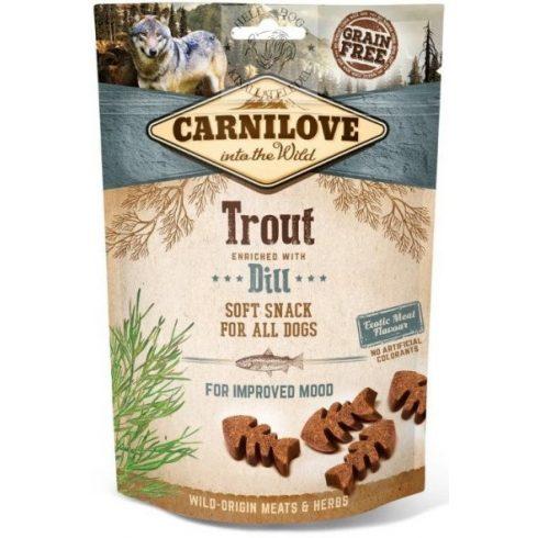 Carnilove Semi-moist, félnedves Snack Pisztránggal és kaporral
