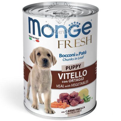 MONGE Fresh Puppy borjú zöldségekkel 400 gr.