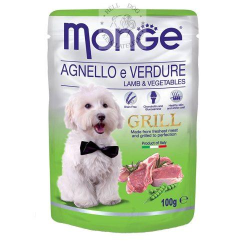 MONGE Grain Free GRILL Bárány zöldségekkel MSM-mel és glükomazinnal