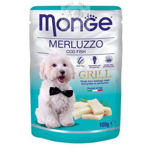 MONGE Grain Free GRILL Tőkehallal MSM-mel és glükomazinnal