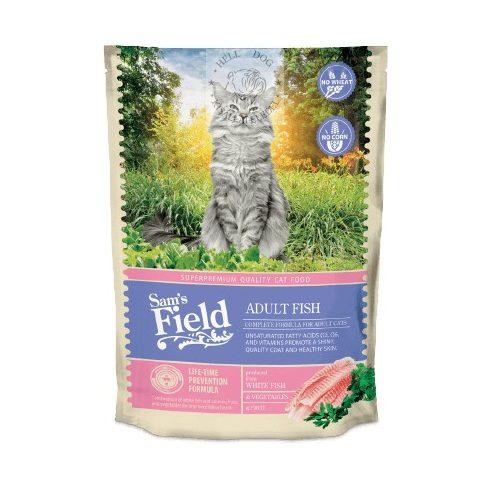 Sam's Field teljes értékű macskatáp fehér hallal és lazaccal  7,5kg