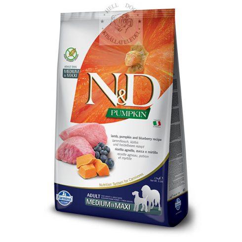 N&D Grain Free bárány áfonya sütőtökkel medium-maxi  12 kg